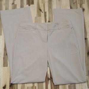 New York & Company Cream Dress Pants 6 Tall